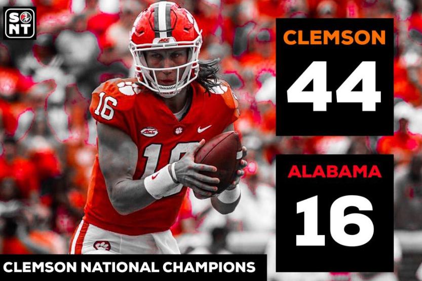 Clemson Defeats Alabama And Wins National Championship ...