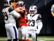 Aaron Donald Fights Devonta Freeman