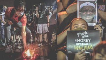 Protestors In Hong Kong Burning LeBron James Jerseys