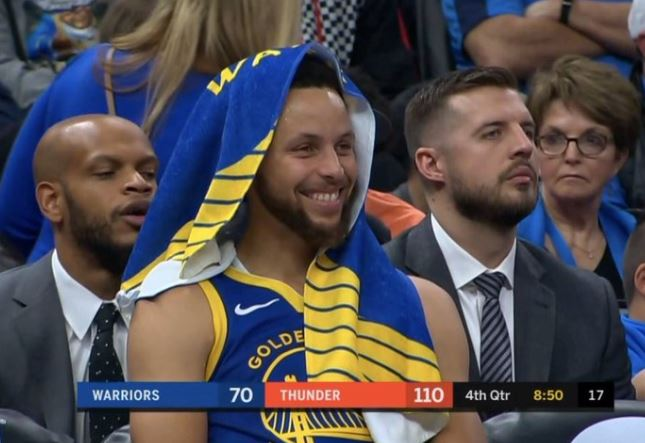 Warriors blown out by Thunder
