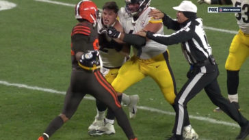 Browns Steelers Fight