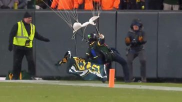 Skydiver Crashes Into Wall At Packers Game