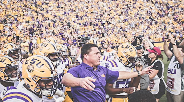 LSU's Coach O Gives Alabama Bulletin Board Material