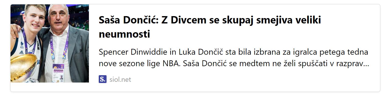 Luca Doncic Dad Vlade Divac