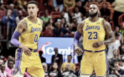 Kyle Kuzma and LeBron