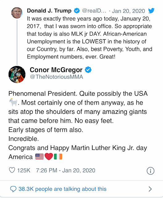 Conor McGregor Trump