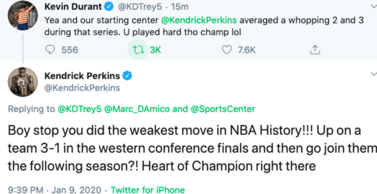 Perkins And Durant Twitter Fight