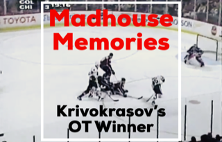 Krivokrasov Lifts Blackhawks Pat Avalanche, Roenick and Roy Feud