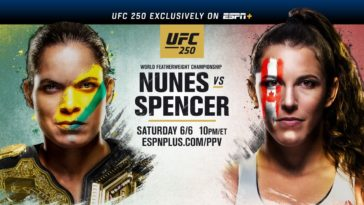 UFC 250: Nunes vs. Spencer Fight Picks