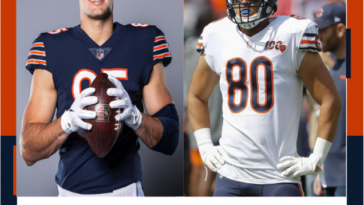 Chicago Bears Jimmy Graham Cole Kmet Tight End