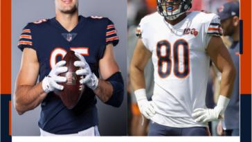 Chicago Bears Jimmy Graham Cole Kmet Tight End