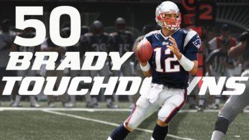 Tom Brady 50 Touchdowns