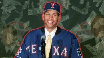 alex rodriguez rangers Money