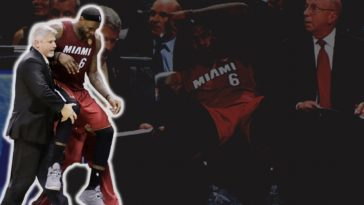 lebron james cramps in finals